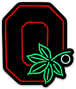 O.S.U. Magnet Logo Type NEON Classic Buckeyes Ohio State Die-Cut MAGNET