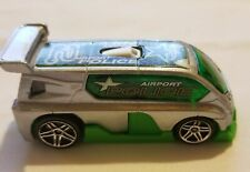 2001 Mattel Green Airport Police Hyperliner Diecast 3 inches Length 1:64