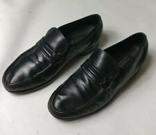FLORSHEIM MENS BLACK LEATHER CASUAL MOCCASIN LOAFERS SLIPON SHOES SIZE UK 6.5 40