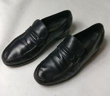 Florsheim para Hombre de Cuero Negro Informal Mocasín Mocasines Slipon zapatos talla 6.5 40 Reino Unido