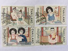 1970 Thailand Stamps Complete Set #SC 557-560
