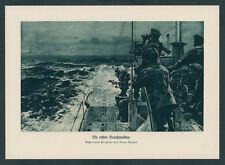 Claus Bergen Kaiserliche Marine U-Boot Turm Besatzung Feindfahrt Nordsee 1917