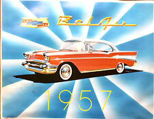 "VINTAGE ORIGINAL 1957 CHEVY BEL AIR LIMITED EDITION TOM DANIEL SIGNED 23"" PRINT"