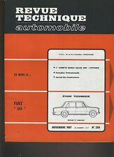 (C6)REVUE TECHNIQUE AUTOMOBILE  FIAT 124