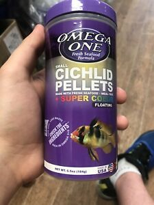 Omega One Small Cichlid Pellets 6.5oz. **Free Shipping**