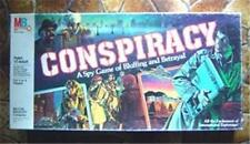 Conspiracy Board Game Spy Bluffing Betrayal 1982 Milton Bradley
