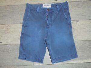abercrombie dark blue flat front shorts size 8
