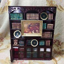 Bespaq/Pat Tyler Dollhouse Miniature Bookcase Shelf Hutch China Cabinet p298