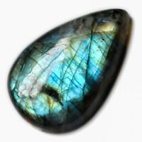 Cts. 49.05 Natural Multi Fire Labradorite Cab Pear Cabochon Loose Gemstone