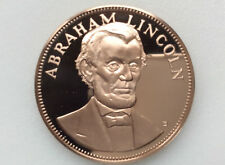 1972 Franklin Mint Abraham Lincoln Proof-like Bronze Medal A2445
