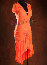 K3569 Cocktail women's ballroom latin chacha samba salsa rumba dance dress UK 12