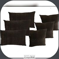 PLAIN CUSHIONS OR COVERS 100% SUEDE 3 sizes   FULL SET WITH OR WITHOUT INNER