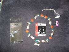 "Philadelphia Eagles RARE ""1997"" NECKLACE by PETER DAVID, 2 PAIR EARINGS & MORE"