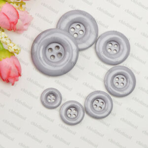 15mm-34MM 19 Color 4-Hole Button Round Candy Colors Resin Craft Sewing DIY Cards
