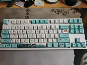 108 PBT Japanese Anime Thick  Height Keycaps Set Fit for Cherry MX Keyboard