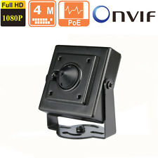 Owlguard 4MP HD POE Pinhole Spy Hidden IP Camera ONVIF 2.4 1080p 3.7mm Camera