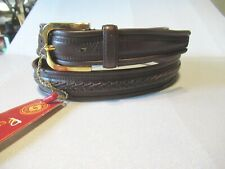 Mens NEW WITH TAGS Brown Samsonite Braided  Leather Belt  SZ 32 Small