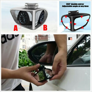 360 Rotation Adjustable Convex Rear View Blind Spot Mirror Fit For Car Left Side