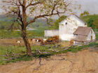 Summer Day Edward H Potthast Farm Art Painting Print on CANVAS Giclee Small 8x10