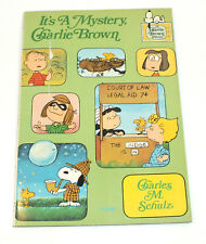 It'as A Mystery Charlie Brown Charles Schulz 1975 Scholastic Book Comic Cartoon