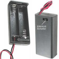 4 St. Batteriehalter 2 x Micro AAA LR03 geschlossen Ein-Ausschalter incl De Vers