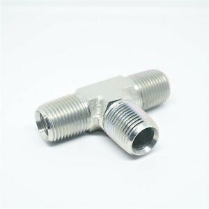 """Steel 1/2"""" Male Npt Mpt Tee T Pipe Fitting Vacuum, Fuel, Air, Water, Oil, Gas"""