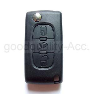 Light Symbol 3 BT KEY FOB CASE For Peugeot 207 307 308 407 807& CITROEN C2 C3 C4