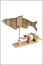 Fish Automata: Timberkits Self-Assembly Wood Construction Moving Model Kit