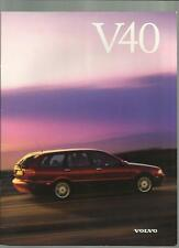 VOLVO V40, SE AND CD  SALES BROCHURE JUNE 1997 FOR 1998 MODEL YEAR