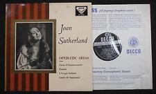 "Decca SXL 2159 - Joan Sutherland, Operatic Arias. 1st press 12"" LP Record Album"