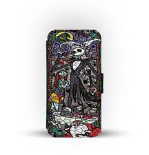 Card Slots Wallet Style Phone Case Cover Jack Skellington Pumpkin King Halloween