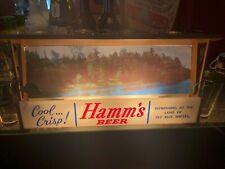 SCARCE 1950s BREWERIANA: Lighted Vintage Hamms Beer Lake Scene Sign - Works!!