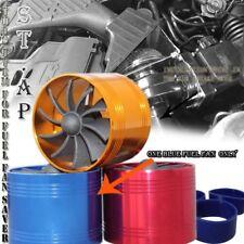 "3"" Universal Tornado Turbonator Intake Fuel Saver Single Fan Supercharger Blue"