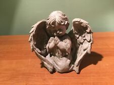 Concrete Kneeling Praying Boy Angel Statue