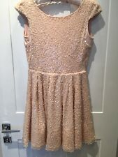 Dress Size 10 Skater Style Nude Pink Sequins