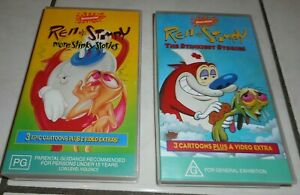 Ren & Stimpy 2x - VHS Tapes - BRAND NEW - TAPES SEALED -
