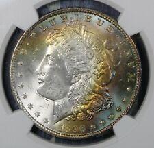 1896 MORGAN SILVER DOLLAR NGC MS64* TONED COLLECTOR COIN FREE SHIPPING