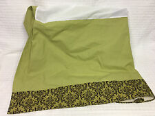 Green/Brown CAROUSEL DESIGNS Baby Bedding Crib Skirt USA Dust Ruffle Box Pleat