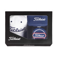 Titleist Japan Golf JAPAN Cap Pouch Target Cup Set Gift Box White Navy AJGF75