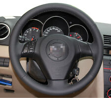 Leather Steering Wheel Cover for 2004 2009 Mazda 3 M3 2006 2008 2010 Mazda 5 M5