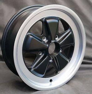 Maxilite Fuchs 16x6 Wheel - NEW TUV approved ET36 MATTE BLACK For Porsche