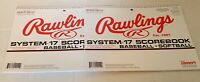 NEW LOT OF 2 RAWLINGS SYSTEM 17 BASEBALL SOFTBALL SCORE BOOK OFFICIAL QUICK TALL
