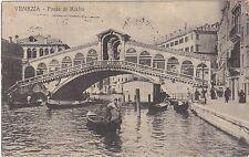 ITALY VENICE GONDOLAS PONTE DI RIALTO POSTCARD