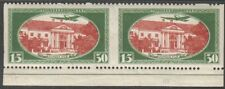 Latvia 1930 Mi 160A Variety - Horizontal pair imperforated between stamps