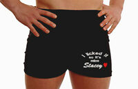 Personalised boxer shorts mens anniversary underwear heart gifts MT presents leg