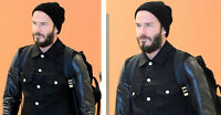 DAVID BECKHAM SPOTTED IN BELSTAFF LEATHER DENIM JACKET