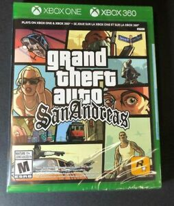 Grand Theft Auto San Andreas Xbox 360 Xbox One Backwards Compatible Brand New