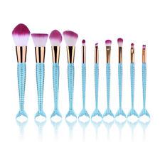 10pcs Mermaid Makeup Brush Set Powder Foundation LipComsetic Beauty Brushes Kit