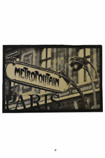 Paris Metro Art Nouveau Rubber-Backed Kitchen/Bathroom Rug Carpet Mat Bathmat