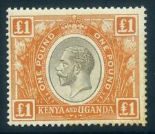 KUT Kenya & Uganda 1922 £1 Black & Orange, SG95, MVVLH